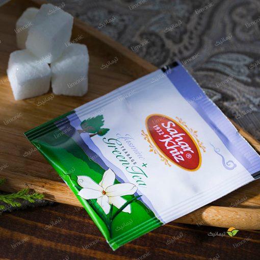 چای سبز کیسهای عطر گل یاس سحرخیز
